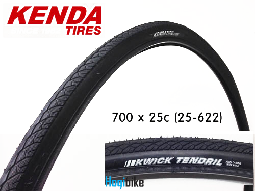 켄다 700 x 25c 로드 타이어 25-622 Kenda Kwick Tendril road tire