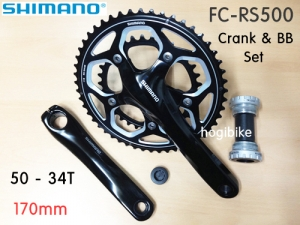 [BB 포함] 시마노 FC-RS500 크랭크 셋 Shimano road crank & bb set 170mm