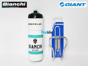 비앙키 밀라노 물통 + 자이언트 물통 케이지 Bianchi Milano bottle & Giant Gateway cage set